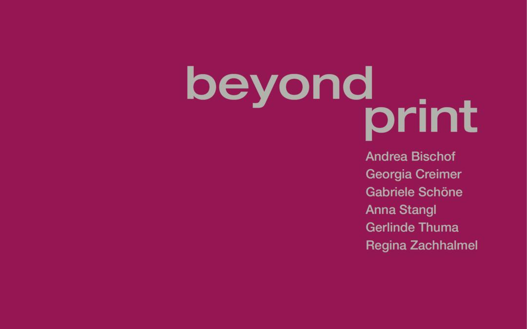 "artinprint goes ""beyond print"" in der Stadtgalerie Waidhofen/Ybbs"