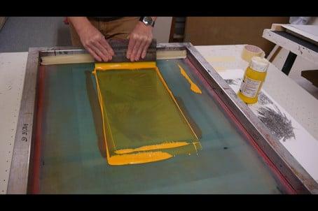 Wichtige Drucktechniken: der Siebdruck